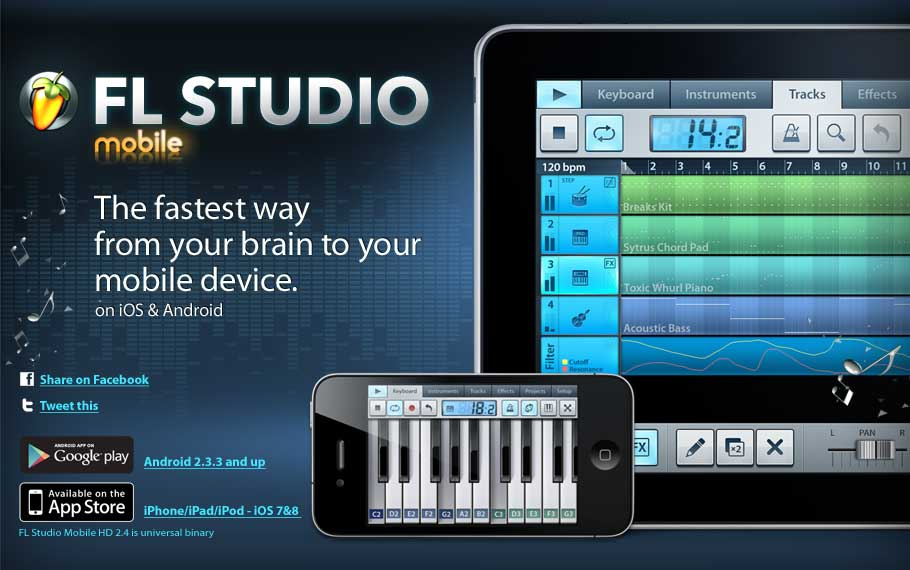 Image Line Software FL Studio Mobile HD v2.5.1 iOS